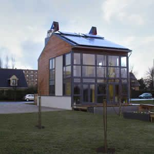Photo of the completed Eco House