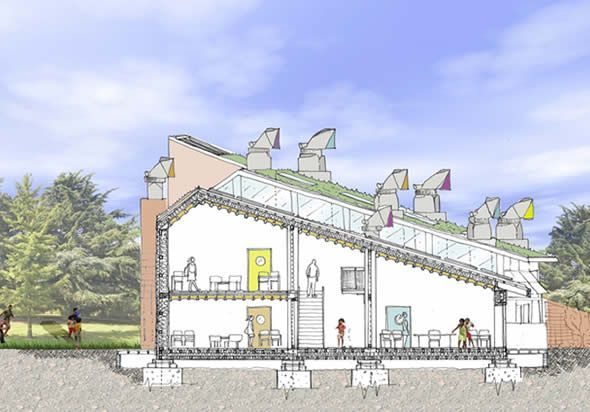 Eco School Architectural Project by Manning Holden Architects, Matlock