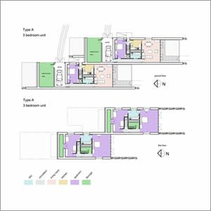 Floor plans for sustainable masterplan