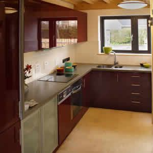 Recycled kitchen in Eco House interior