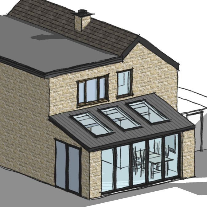 Granted! Planning permission for side extension in Matlock, Derbyshire