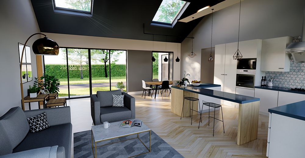 Interior visual of our new build bungalow now on site