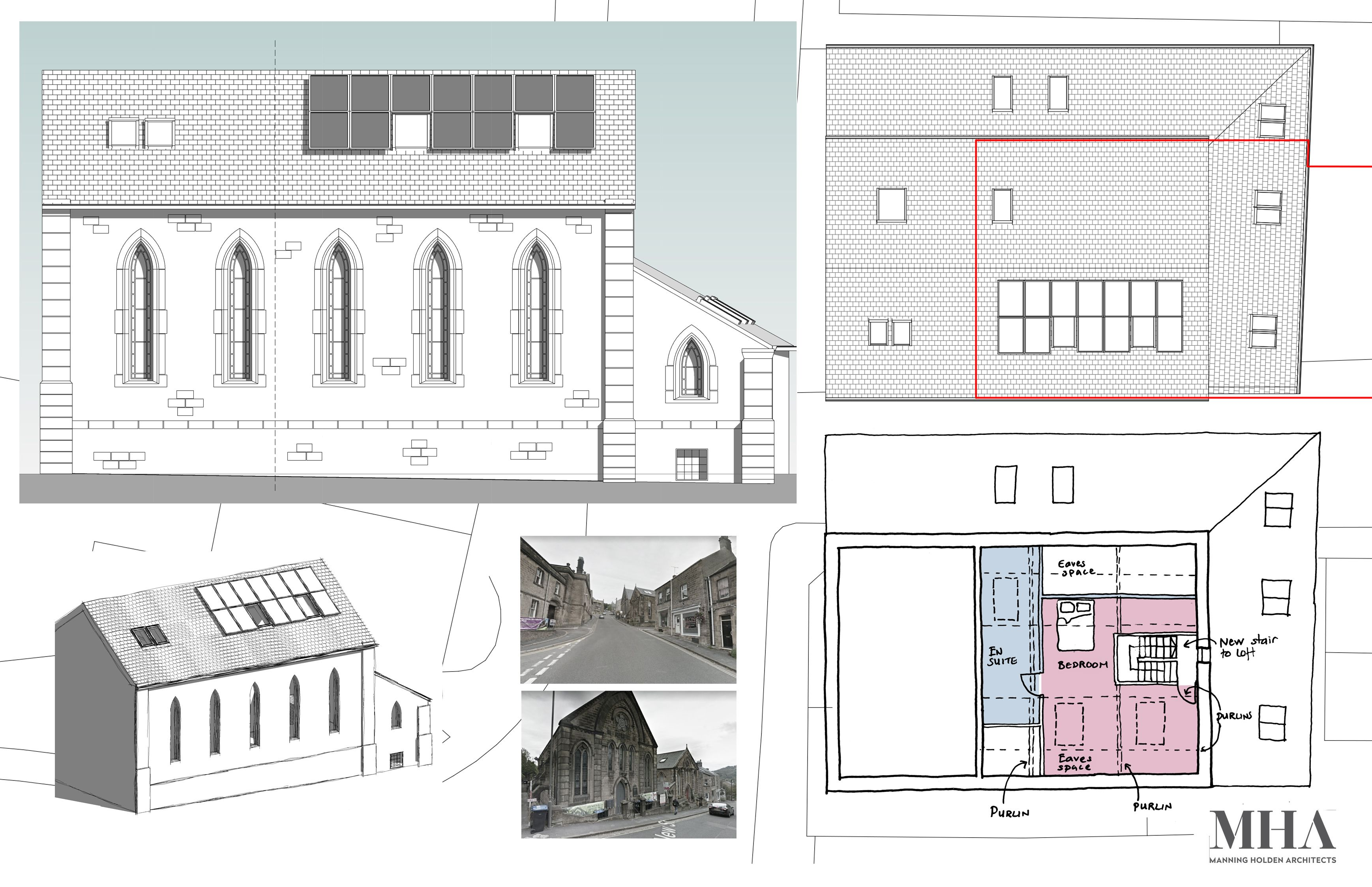 Planning permission granted for Old Sunday School loft conversion in Matlock