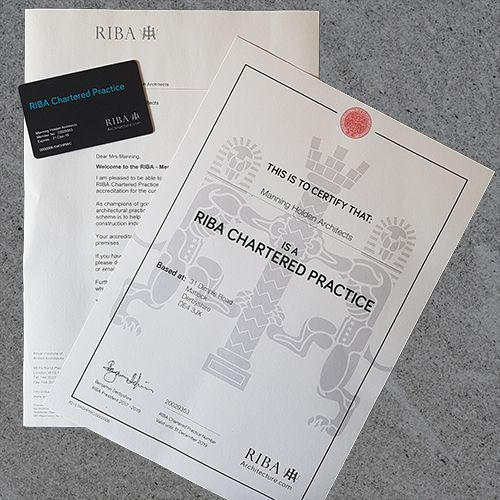 Manning Holden Architects are now a RIBA Chartered Practice