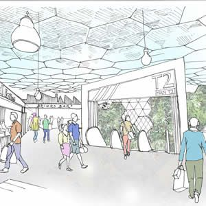 Manchester Airport - Food court sketch