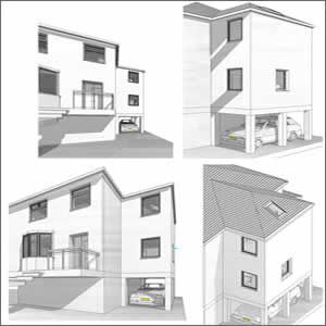 Home Extension - 3D views of proposal