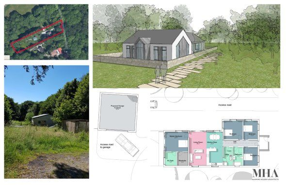 Design development by Manning Holden Architects in Matlock